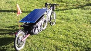 Remorque VTT motorisée solaire - aravisenergies