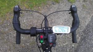 Commande électrique au guidon d'un vélo type route - aravisenergies